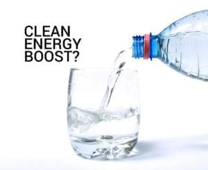 caffeinated water clean energy boost